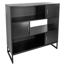 "Buffet 3 Portes & 3 Niches ""Tedy"" 120cm Noir"