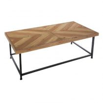 "Table Basse en Bois ""Retro Factory"" 130cm Naturel"