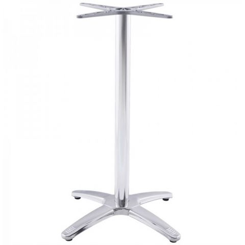 Pied de table krome 110cm m tal argent - Pied de table 110 cm ...