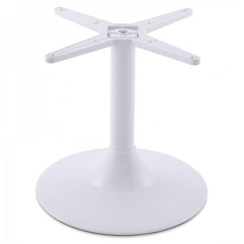 "Pied de Table ""Misco"" Métal 45cm Blanc"
