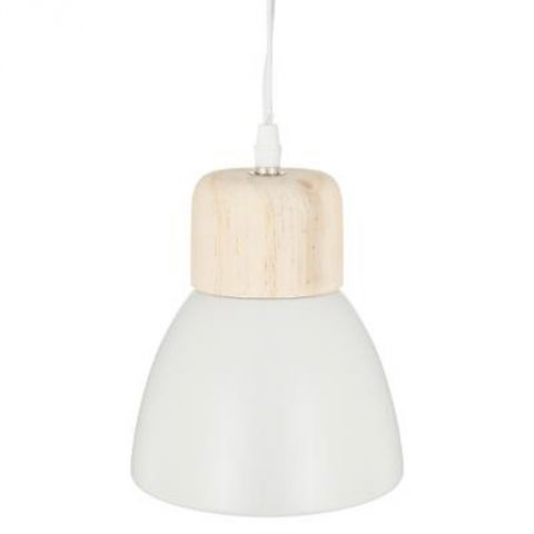 "Lampe Suspension Métal ""Cloche"" 19cm Blanc"