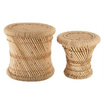 "Lot de 2 Tables d'Appoint ""Nomade"" 38cm Naturel"
