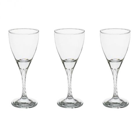 "Lot de 3 Verres à Vins ""Twist"" 18cl Transparent"