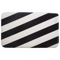 "Tapis de Bain ""Dream Big"" 50x80cm Blanc & Noir"