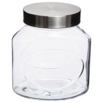 "Bocal en Verre ""Inox"" 1,5L Transparent"