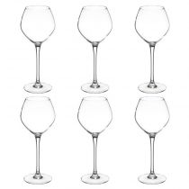 "Lot de 6 Verres à Vin ""Volto"" 35cl Transparent"