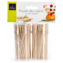Lot de 400 Piques à Cocktail 9cm Naturel