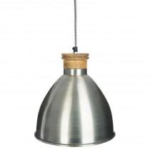 "Lampe Suspension en Métal ""Break"" 26cm Argent"