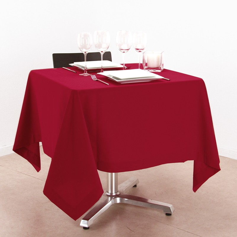 Nappe carr 150x150cm rouge - Nappe de table carre ...