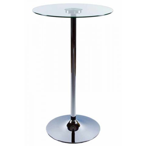 Table de bar en verre Transparent