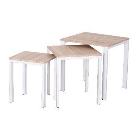 "Set de 3 Tables Basses ""Bivoak"" Beige"