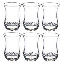 "Lot de 6 Verres à Thé ""Sylvana"" 8cl Transparent"