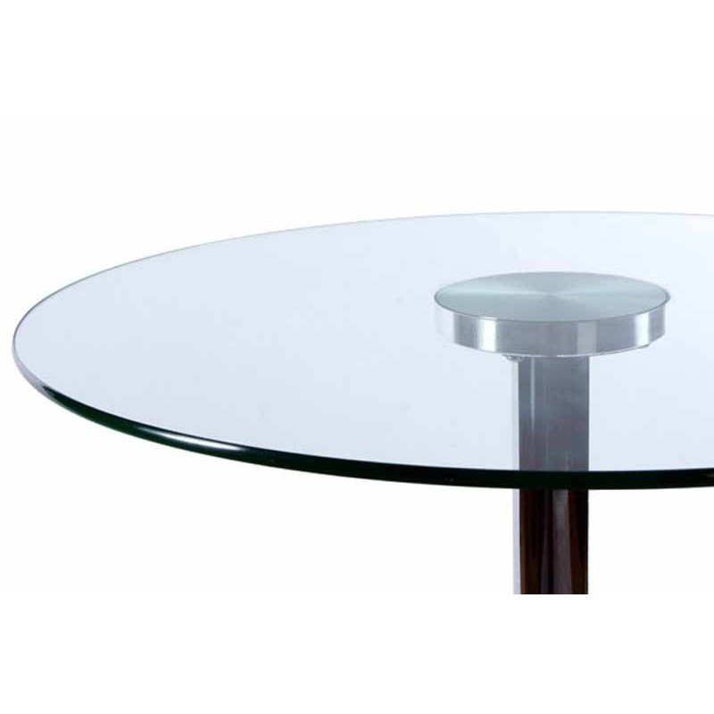 Table de bar en verre transparent for Bar en verre