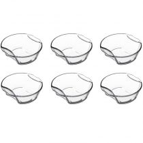 Lot de 6 Mini-Plats Ronds en Verre 16cm Transparent