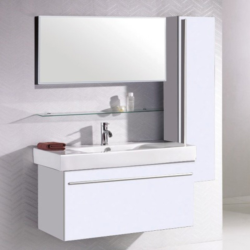 ensemble meuble salle de bain faiway blanc. Black Bedroom Furniture Sets. Home Design Ideas