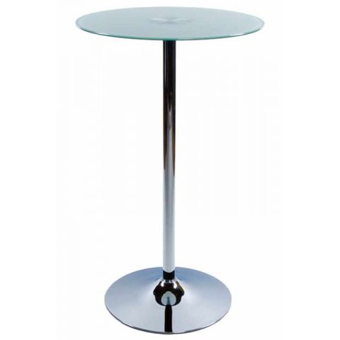 Table de bar en verre Blanc