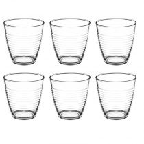 "Lot de 6 Gobelets en Verre ""Circo"" 25cl Transparent"