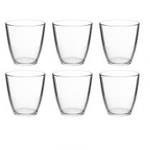 "Lot de 6 Gobelets en Verre ""Pixel"" 25cl Transparent"