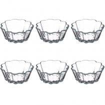 "Lot de 6 Moules à Soufflé ""Verre"" 11cm Transparent"