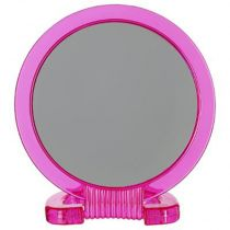 "Miroir Double-Face ""A poser"" 22cm Rose"