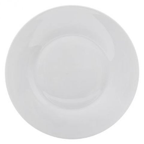 "Lot de 6 Assiettes Plates ""Mathilde"" 27cm Blanc"