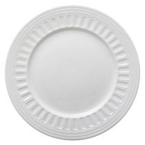 "Lot de 6 Assiette Plates ""Colombe"" 27cm Blanc"