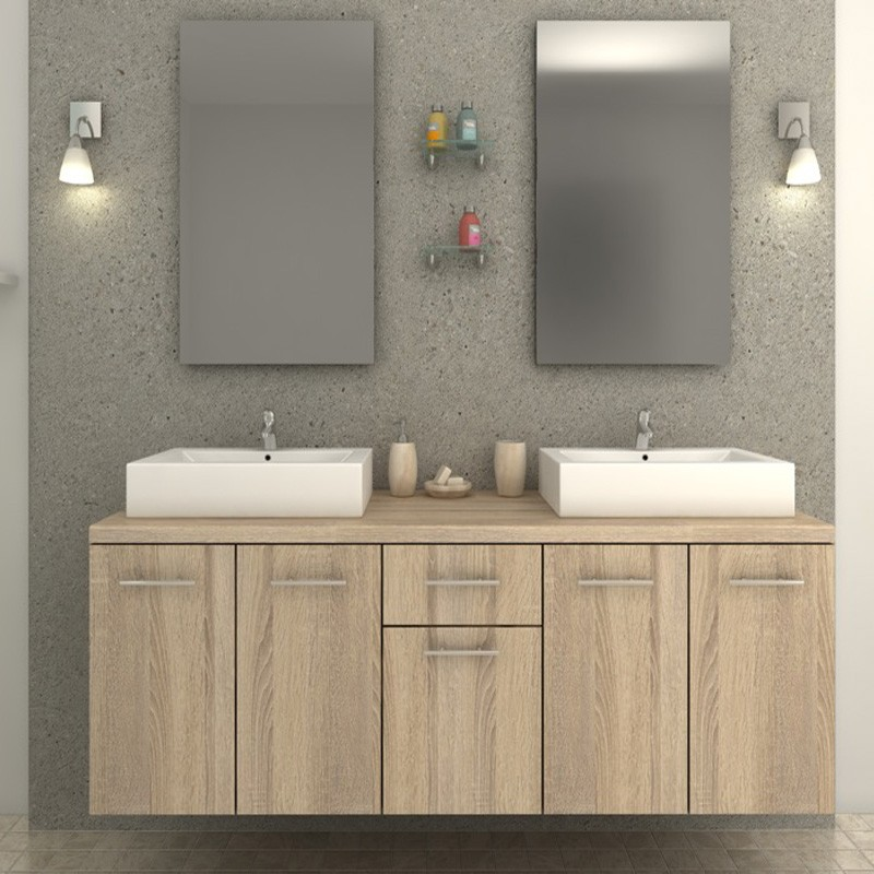 ensemble meuble de salle de bain epura beige. Black Bedroom Furniture Sets. Home Design Ideas