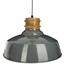 "Lampe Suspension en Métal ""Eve"" 36cm Gris"