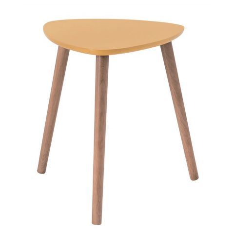 "Table d'Appoint Scandinave ""Kaja"" 40cm Jaune"