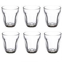 "Lot de 6 Verres à Thé ""Baroque"" Transparent"