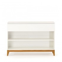 "Console 2 Niches & 1 Tiroir ""Blanco"" 120cm Blanc"
