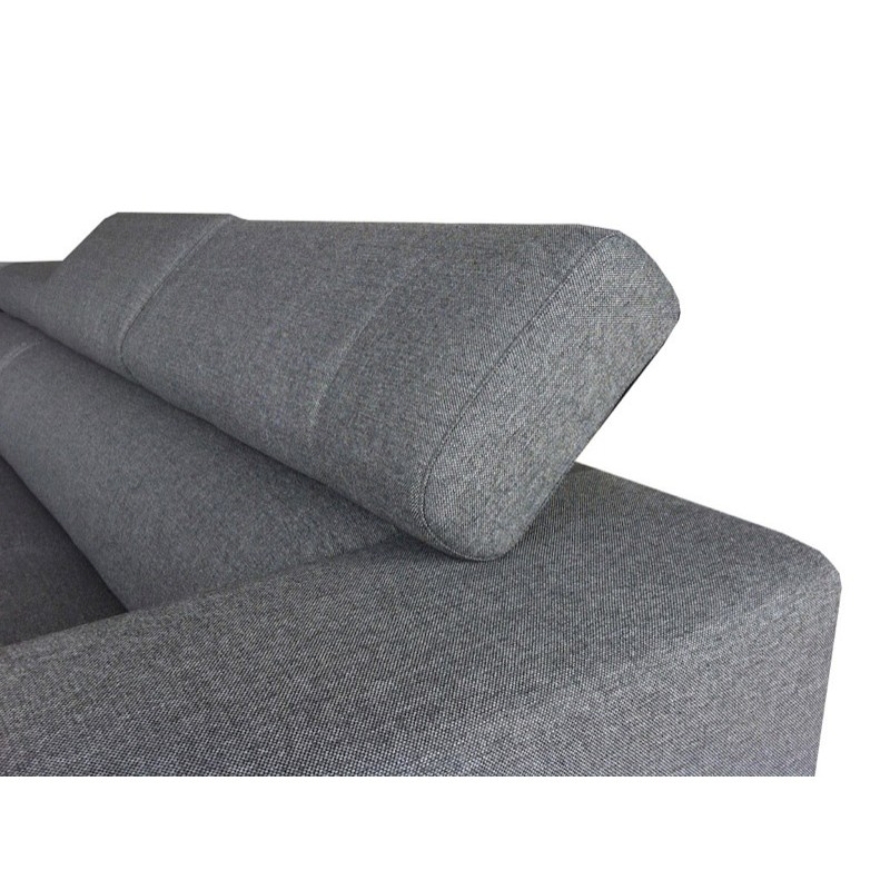 Canap street gris angle gauche for Canape angle gris