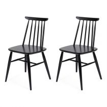 "Lot de 2 Chaises Design ""Aino"" 81cm Noir"