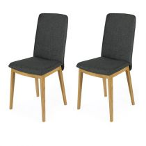 "Lot de 2 Chaises Design ""Adra"" 90cm Gris"