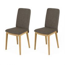 "Lot de 2 Chaises Design ""Adra"" 90cm Marron"