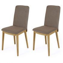 "Lot de 2 Chaises Design ""Adra"" 90cm Taupe"
