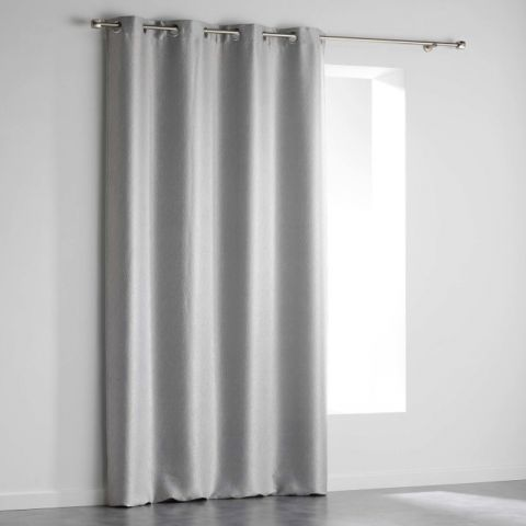 Rideau Occultant Velours Shadow 140x240cm Gris