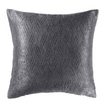 "Housse de Coussin Velours ""Shadow"" 40x40cm Gris Anthracite"