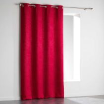 "Rideau Occultant Velours ""Triago"" 140x240cm Rouge"