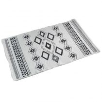 "Tapis Jacquard Rectangle ""Inca"" 50x80cm Gris"