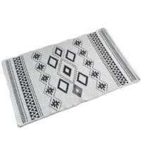 "Tapis Jacquard Rectangle ""Inca"" 80x120cm Gris"