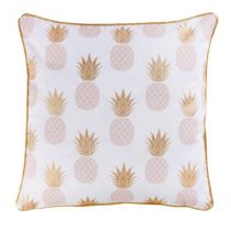 "Housse de Coussin ""Sweet Ananas"" 40x40cm Or"