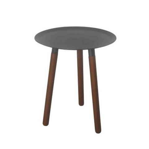 "Table d'Appoint Design ""Lily B"" Gris"