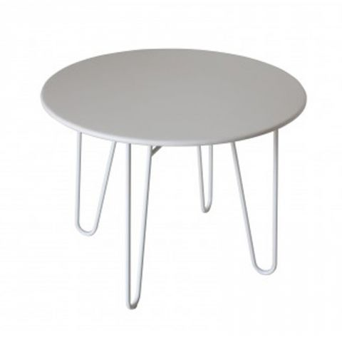 "Table d'Appoint Design ""Olga"" Blanc"