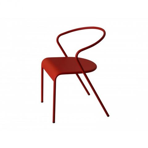 "Lot de 2 Chaises Design ""Akaros"" Rouge"