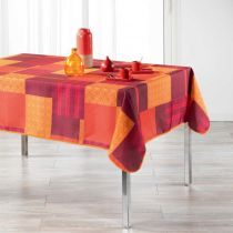 "Nappe Rectangulaire Imprimée ""Catalonia"" 150x240cm Orange"