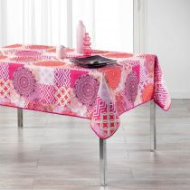 "Nappe Rectangulaire Imprimée ""Flamenco"" 150x240cm Rose"