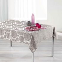 "Nappe Rectangulaire ""Rose des Vents"" 140x250cm Taupe"
