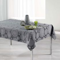 "Nappe Rectangulaire ""Rose des Vents"" 140x300cm Anthracite"