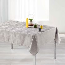 "Nappe Rectangulaire ""Alisson"" 140x250cm Taupe"
